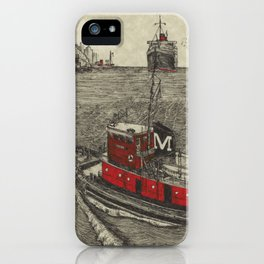 Morgan Tugboat, Hudson river, New York iPhone Case
