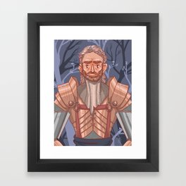 Knight of Flowers Framed Art Print