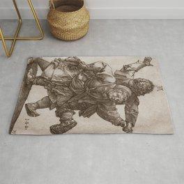 """Albrecht Dürer """"Peasant Couple Dancing"""" Rug"""