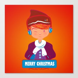 "Mikel AlfsToys say: ""Merry Christmas""  Canvas Print"