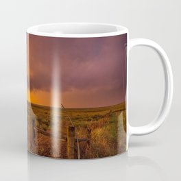 Sunset on the Plains - Sun Illuminates Sky After Stormy Day Coffee Mug