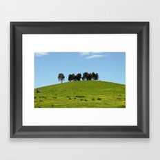 On top of the Hill Framed Art Print