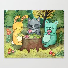 Woodland Animal Picnic Canvas Print