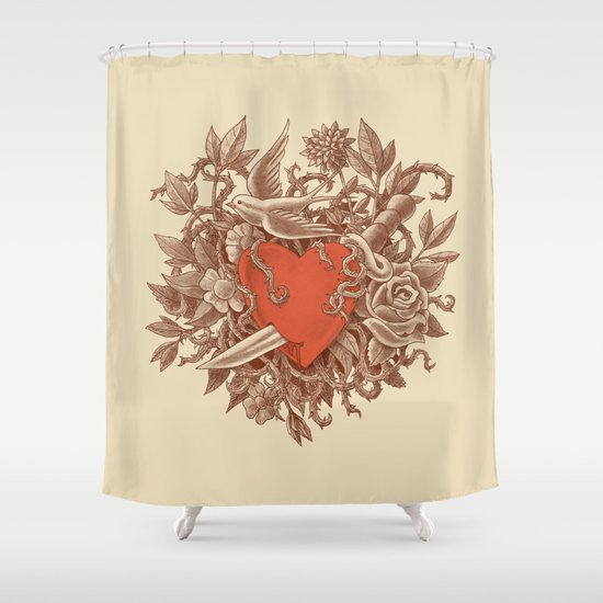 Heart of Thorns  Shower Curtain