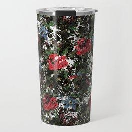 Stitched Roses Travel Mug