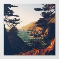 big sur Canvas Prints featuring Big Sur by Christian Sorensen Hansen