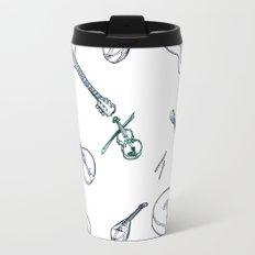 Music Pattern (blue) Travel Mug