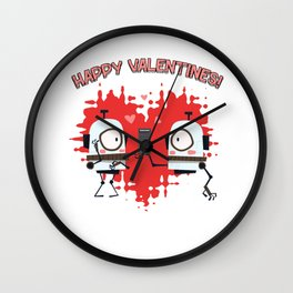 Happy Valentines! - Valentine's Day Wall Clock