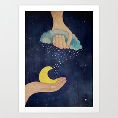 Handmade Night Art Print