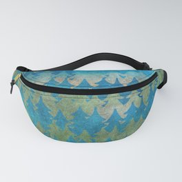 The secret forest - Abstract aqua turquoise Forest tree pattern Fanny Pack
