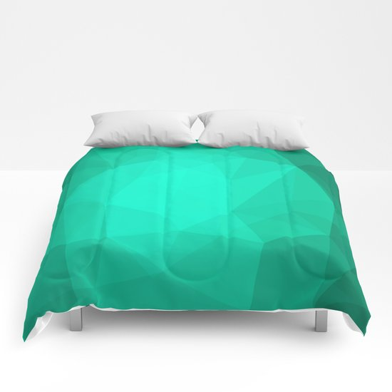 Geometric Polygonal Pattern 01 Comforters