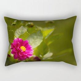 Dark Pink Dahlia in the Garden Rectangular Pillow