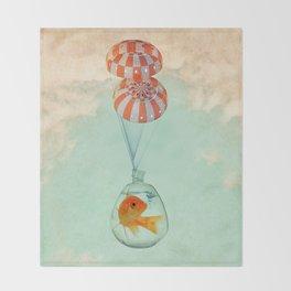 parachute goldfish Throw Blanket