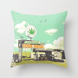 SOUR DIESEL Throw Pillow