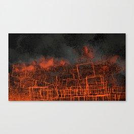 Urban landscape geometric structure rubble illustration Canvas Print
