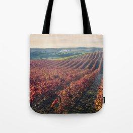 Autumnal vineyards in the Alentejo, Portugal Tote Bag