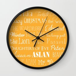 Narnia Celebration - Marigold Wall Clock
