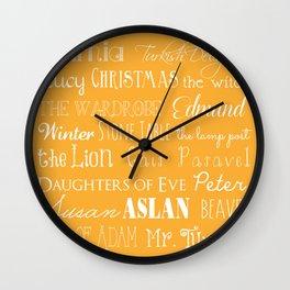 Narnia Celebration - Marigold Wall Clock