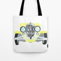 great gatsby Tote Bags featuring Gatsby by S. L. Fina