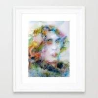 oscar wilde Framed Art Prints featuring OSCAR WILDE - watercolor portrait by LAUTIR