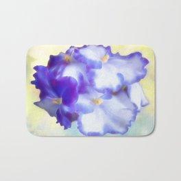 Blue Begonias Bath Mat