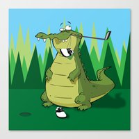 golf Canvas Prints featuring Golf  by Tony Vazquez