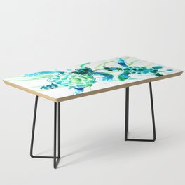 Sea Turtles, Turquoise blue Design Coffee Table