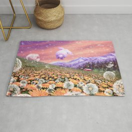 Bunny Hopping in the Field of Hope Rug