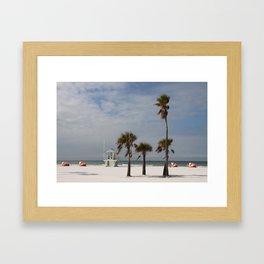 Clearwater Beach In Wintertime Framed Art Print