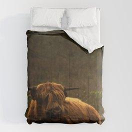 Scottish Highland hairy cow Comforters