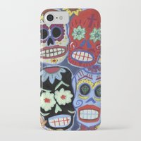 sugar skulls iPhone & iPod Cases featuring Sugar Skulls by Lucy Train