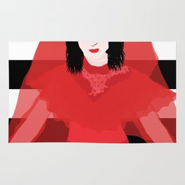 Lydia in Red Rug