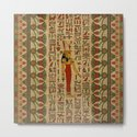 Egyptian Mut Ornament on papyrus by k9printart