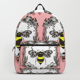 Be the Queen Bee! - Ornamental Line Art Backpack