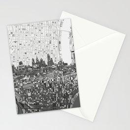philadelphia city skyline black and white Stationery Cards