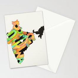 Prem Sewa Indian Outline by Carli Stationery Cards