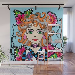 Style Girl - Shella - Blue Wall Mural