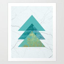 Green Peaks IV Art Print