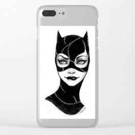 Catwoman Clear iPhone Case