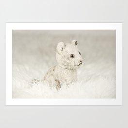 Little toy lion Art Print