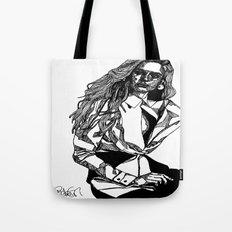 B&W Fashion Illustration - White Shirt Tote Bag