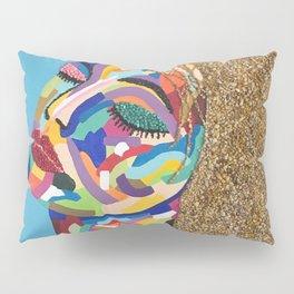 Pop Art woman face colors Fauve Lady 2 rock Pillow Sham