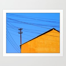 The sun struggles up another beautiful day Art Print