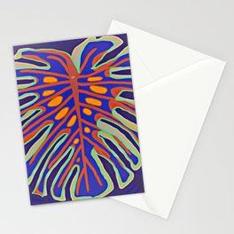 Monstera Flying to Summer Stationery Cards