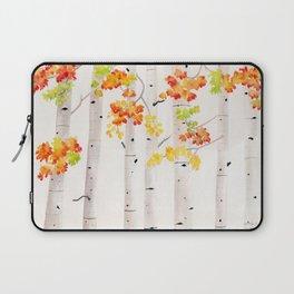 Autumn Birch Song Laptop Sleeve