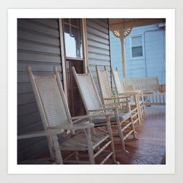 Rocking Chairs Art Print