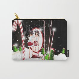 Ms. Santa's Whispering Candy Cane Carry-All Pouch