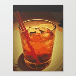 A Cocktail In The Dark In NYC Canvas Print