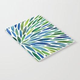 Watercolor Burst – Blue & Green Notebook