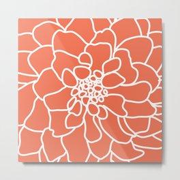 peony coral Metal Print
